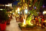 A very nice outdoor restaurant along  Sukhumvit Road