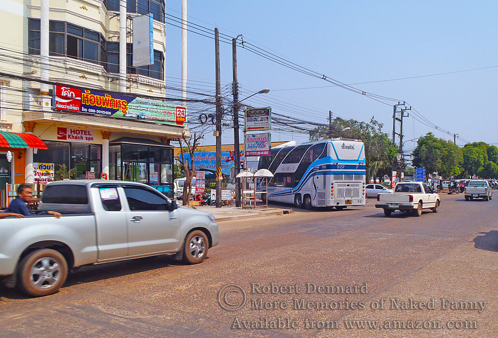 """Baht Bus"" in downtown Nakhon Phanom"