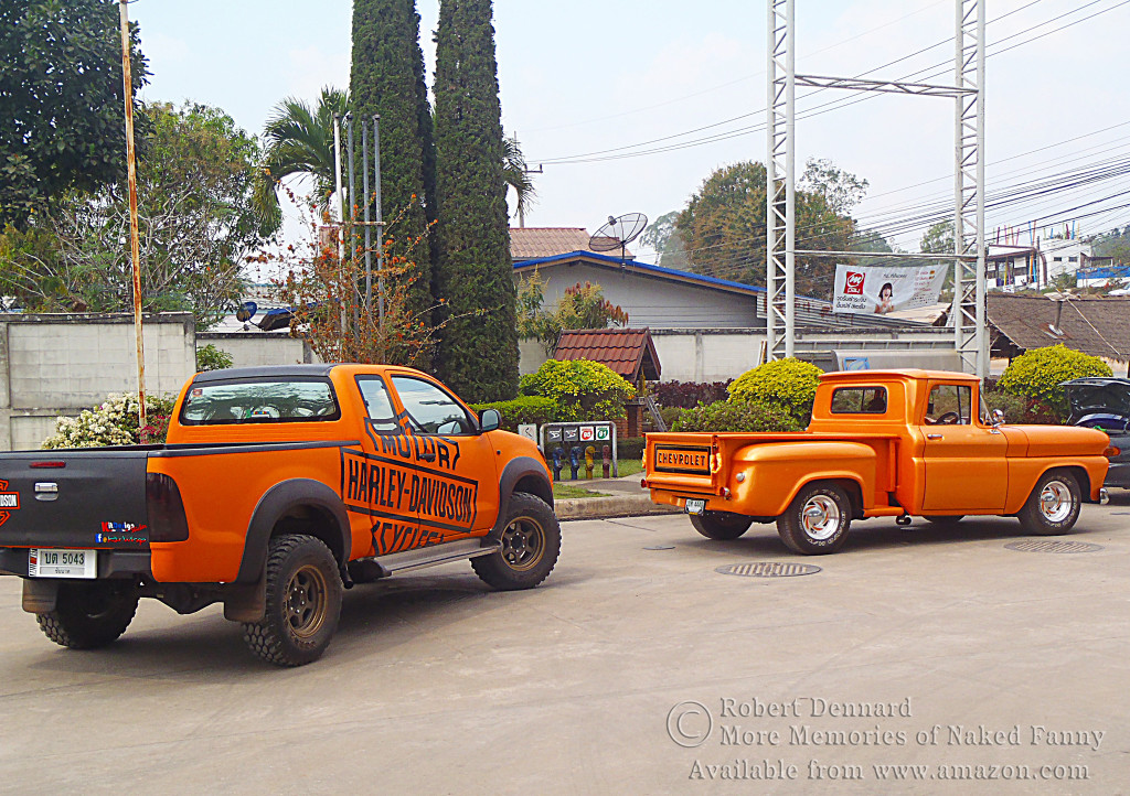 Who would expect to fine these in Thailand. These were support vehicles for a group of bikers.