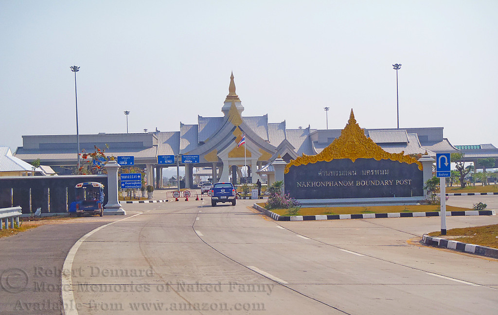 "This is the entrance and customs area to the ""Thai-Lao"" Friendship Bridge."