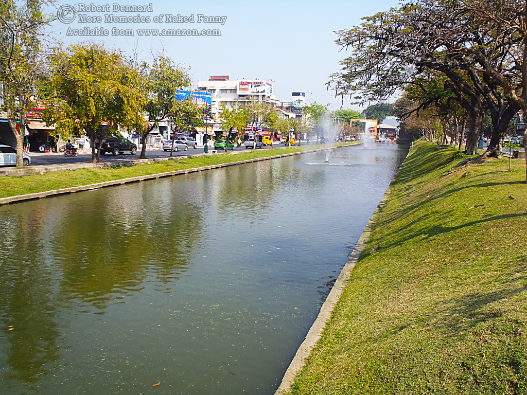 "If you look in the foreground you will see that despite the fountains, this is just a ""klong"""