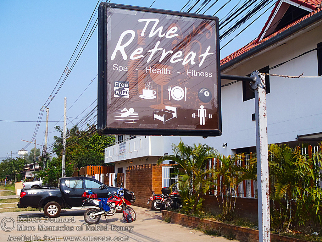 "This is where I stayed in Udorn. It's full name is ""The Englishmen's Retreat"". It had the best (softest) bed of anywhere I stayed in Thailand. It had a full western breakfast too... for about $3.00. Cost for the room... about $12.00"