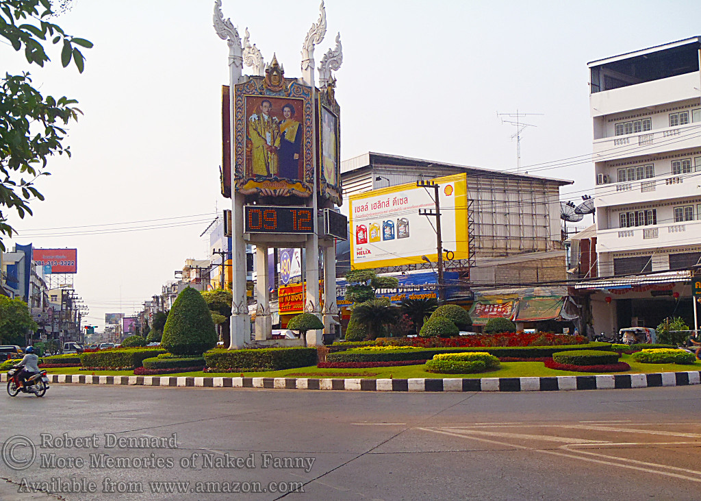 "One of the ""round-abouts"" in downtown Udorn."
