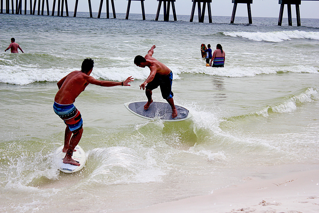 I am amazed at what can be done with skimboards these days.