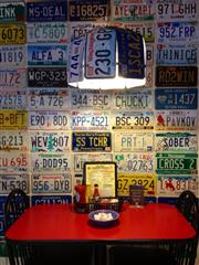 A table inside Mrs. Macs.
