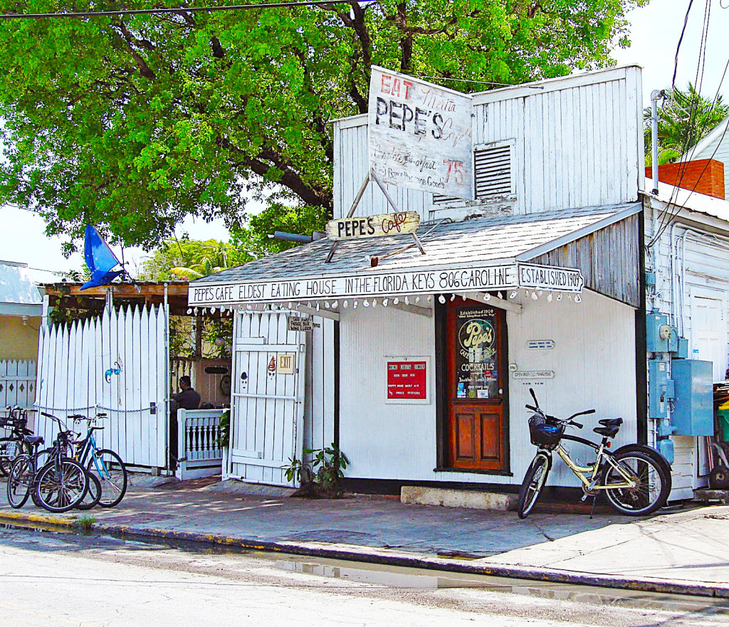 Pepe's Café... est. 1909. No doubt it's that old.